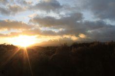 Der Morgen in den Bergen Neuseelands