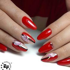 Elegant Nails, Red Nails, Nail Colors, Nail Art Designs, Icing, Nailart, Pretty, Professional Nails, Nice Nails