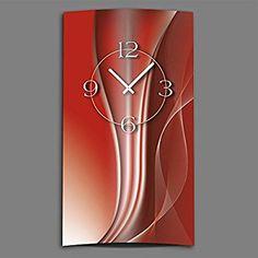 Abstracto kupferrot hochkant-Reloj de pared moderno Relojes de Pared Diseño Silencioso sin tic tac) DIXTIME. 3d de 0019