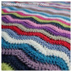 crochet ripple blanket more