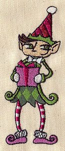"Embroidery Designs at Urban Threads - Enigmatic Elf (#UT2817) 1.53""w x 3.85""h 24 May 2011"
