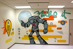 """Latest mural by Mike """"Truth"""" Johnston... Make it... or Deconstruct... In Austin, Texas www.mikejohnstonartist.com"""