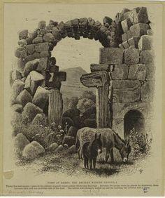 Tomb At Kedes, The Ancient Kedesh Naphtali. Woodward, John Douglas (1846-1924) (Artist). Courtesy of The New York Public Library (USA).  www.nypl.org