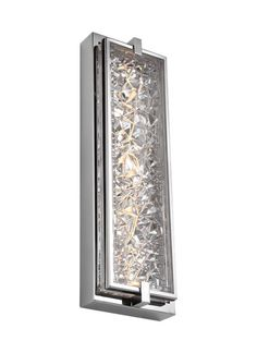 """WB1866PST-LED,19"""" Tall LED Indoor / Outdoor Wall Sconce,Polished Stainless Steel"""