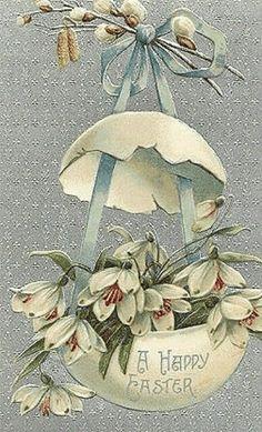 lb More easter images Decoupage, Easter Art, Easter Crafts, Vintage Greeting Cards, Vintage Postcards, Vintage Images, Diy Ostern, Easter Pictures, Easter Season