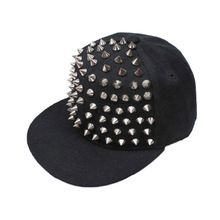 Best seller de Punk Rock Hip Hop prata rebite de Spike Spiky boné de beisebol Cap chapéu zk(China (Mainland))