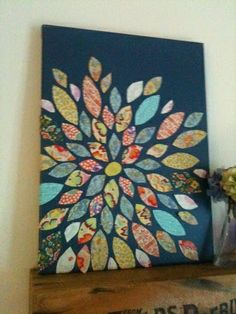 DIY Textiles flowers wall art