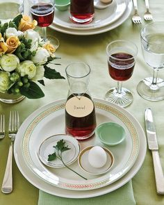 Seder Table Setting