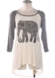I have this thing for elephants on t-shirts: Tribal Elephant Top School Looks, Corsage, Blazers, Fashion Outfits, Womens Fashion, Dress Me Up, Passion For Fashion, Dress To Impress, Style Me