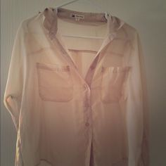 Nasty gal studded blouse Sheet blouse with studded sleeves. Size medium. Long sleeve. Nasty Gal Tops Blouses