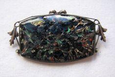 Vintage Deco Fiery Foil Venetian Glass Brooch Pin Thomas Mott | Etsy Venetian Glass, Butterfly Wings, Brooch Pin, Handmade Items, Purses, Deco, Silver, Etsy, Vintage