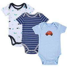 3pcs Baby Boy Infant Rompers  #infant #bodysuits #Jumpsuits