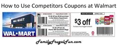 Here's a quick guide to help you understand how to use competitors coupons at your local Walmart. Time to save!