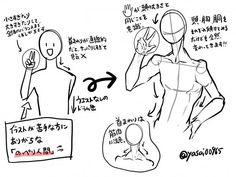 横顔/身体/服のシワの描き方のようなもの。|ほさしー