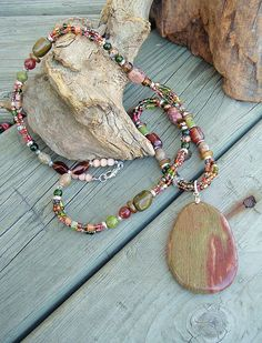 Chunky Stone Necklace Southwest Necklace Bohemian