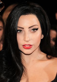 Lady Gaga black hair.WOW SHE LOOKS ALOT BETTER LIKE THIS THAN WITH ALL THAT CRAP SHE PUTS ON HERSELF!