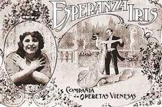 Esperanza Iris. Compañía Operetas Vienesas. México.