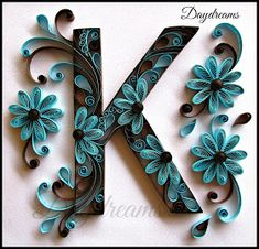 great quilling ideas and paper crafts / Arte Quilling, Quilling Letters, Paper Quilling Flowers, Paper Quilling Cards, Paper Quilling Patterns, Quilling Paper Craft, Quilling Ideas, Quilled Roses, Quilling Comb