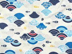 Japanese Fabric Cotton Fabric 1 Yard Japanese Waves