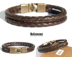 Gorgeous Men Leather Bracelet for a sharp look from BeGenuine www.begenuine.etsy.com
