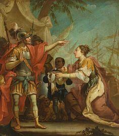 Amigoni-Nachfolger des 19. Jh. Der Großmut des Scipio zeigt die Rückgabe einer als Kriegspreis fe — Gemälde, Aquarelle, Zeichnungen