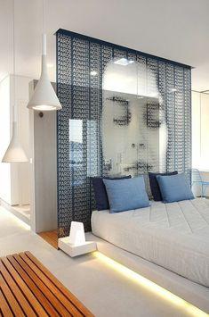 vorhänge schiebegardinen raumteiler trennwand schlafzimmer