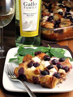 Overnight Blueberry Baked French Toast | alidaskitchen.com #recipes #SundaySupper
