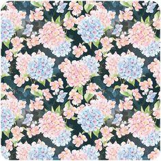 hydrangea patterns by Natalia Tyulkina, via Behance