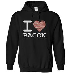 I Love Bacon T-Shirts and Hoodies for guys and gals. These make great gifts for family and friends. Almost everybody loves bacon... except, maybe, vegetarians.