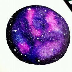 Galaxy painting watercolor