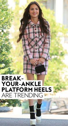 Olivia Rodrigo, Florence Pugh, Kelly Rowland — so many celebs are making us want to risk it. #fashion Florence Pugh, City Chic, Thrifting, Fashion Photography, Platform, Celebs, Street Style, Ankle, Outfits