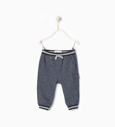 Ribbed herringbone trousers-Trousers-Baby boy | 3 months - 3 years-KIDS-SALE | ZARA United States