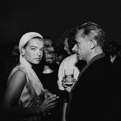 1963, Cannes, France ~ Austrian-born German actress, Romy Schneider and French director Henri-Georges Clouzot. ~ Image by © Mirkine/Sygma/Corbis