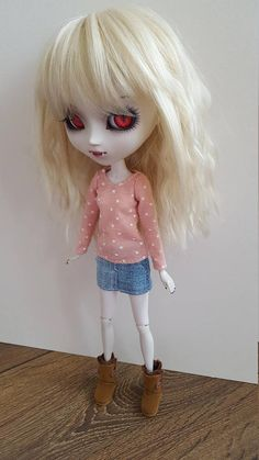 Pale pink with stars long sleeved T-Shirt for Pullip doll