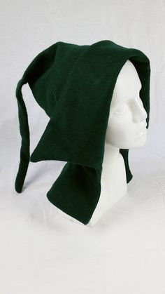 Medieval womens open liripipe hood