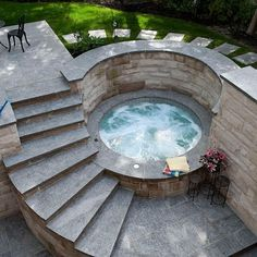 Hot tub with privacy