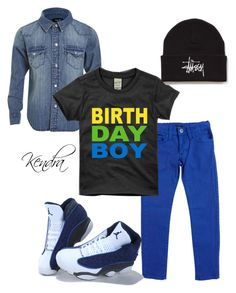 """Happy 4th Birthday Blake! Mommy Loves You!"" by k1974johnson1117 ❤ liked on Polyvore featuring moda, Bardot Junior e Stussy"