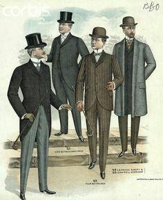 The Victorian Man's Suit of Clothes - Kristin Holt 1890s Fashion, Edwardian Fashion, Vintage Fashion, Steampunk Fashion, Gothic Fashion, Fashion Men, Retro Mode, Mode Vintage, Vintage Diy
