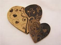 Image result for Wood-Burning Designs Heart Border
