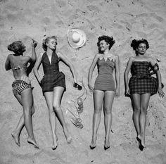 La mode estivale en 1950.