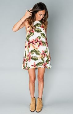 Katy Halter Dress ~ Aloha Blooms Cloud