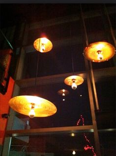 Lighting from old cymbals