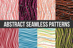 Abstract Striped Seamless Pattern. V by idimair on Creative Market