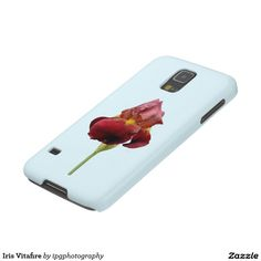 """Iris Vitafire case for iphone and Samsung Galaxy Tall bearded Iris """"Vitafire"""", Hybridized by Schreiner and introduced in 1968 Use the """"Customize"""" button to change the background color of your choice"""