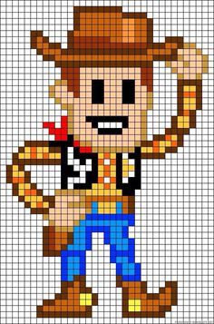 Vers l'infini et au delà avec les perles Hama : file Toy Story - Autos Online Pixel Art Templates, Perler Bead Templates, Pearler Bead Patterns, Perler Patterns, Beaded Cross Stitch, Cross Stitch Embroidery, Cross Stitch Patterns, Perler Bead Art, Perler Beads