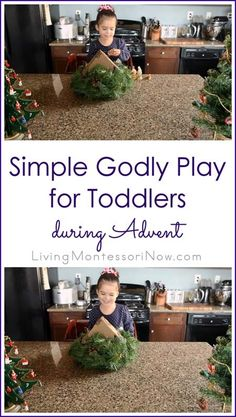Toddlers can join in with Montessori-based Godly Play activities during Advent if you simply have a Nativity set. Post includes embedded YouTube video.