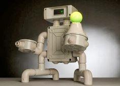 LAMPARAS Robot hechas con plástico PVC - Curiosas IDEAS