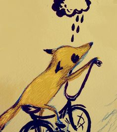 Uphill Foxy Limited Edition Art Print by katcameron on Etsy, $20.00