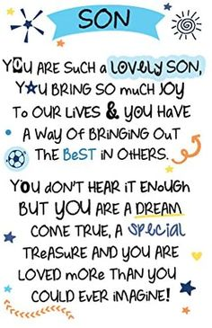 INSPIRED WORDS KEEPSAKES - SON: Amazon.co.uk: Health & Personal Care Big Hugs For You, Hug You, Son Quotes, Son Sayings, Time Images, Uk Health, Medical Problems, Keepsakes, Enough Is Enough