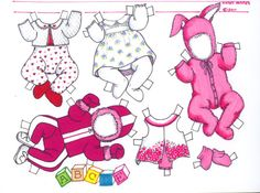 Bonnie a baby paper doll by Karen Hunter page 2